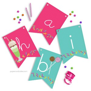 Sweet Shoppe Happy Birthday Pennant Banner