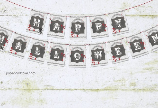 Bloody Halloween Pennant Banner