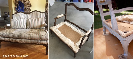 DIY refurbished settee