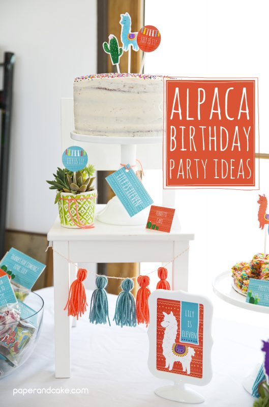 Alpaca Birthday Party Ideas Paper And Cake Paper And Cake