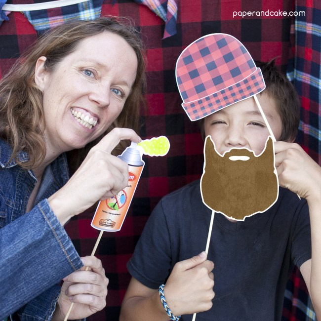 Lumberjack Photo Booth Props DIY Kit