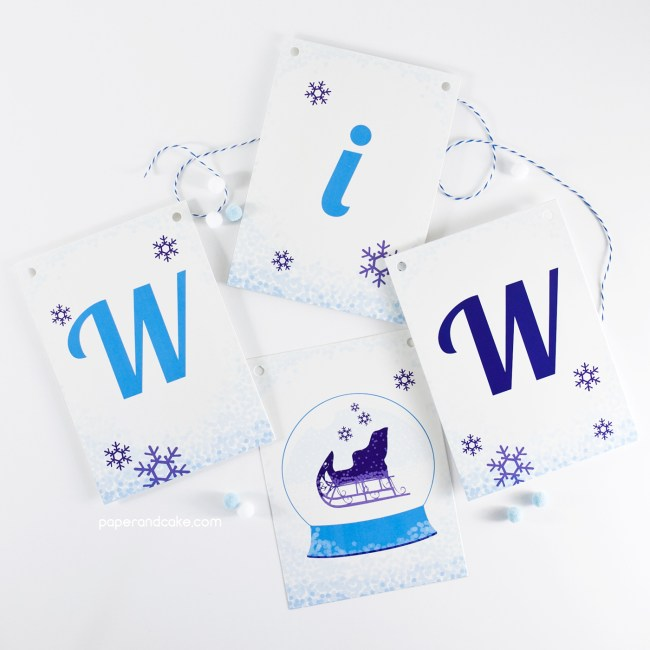 Winter Wonderland Pennant Banner