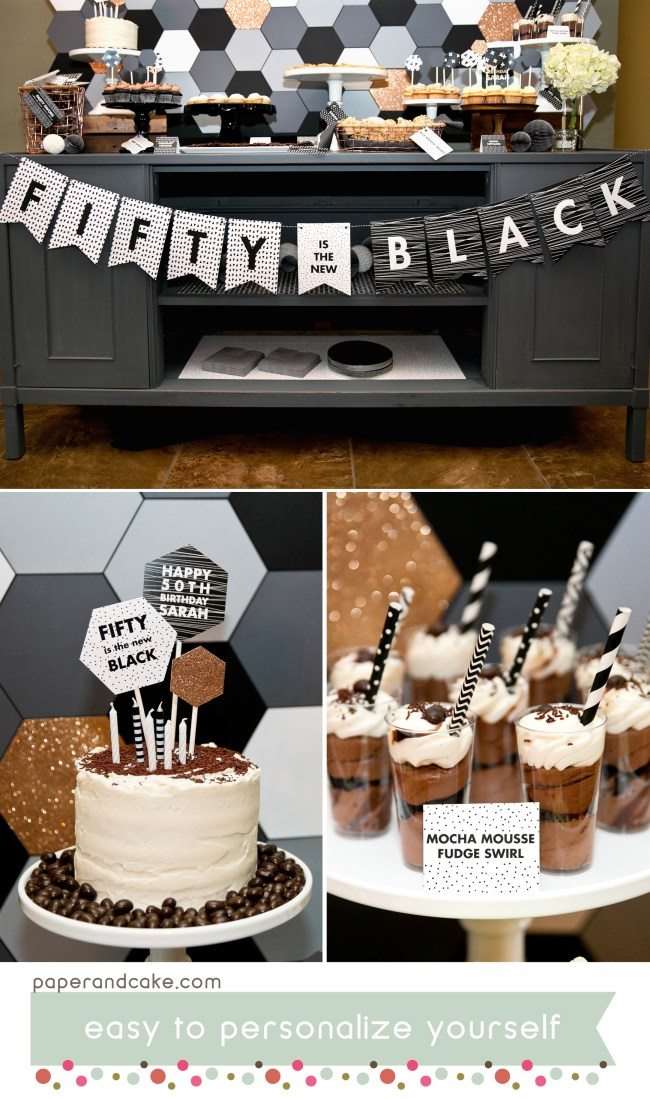 black and white printable party 2
