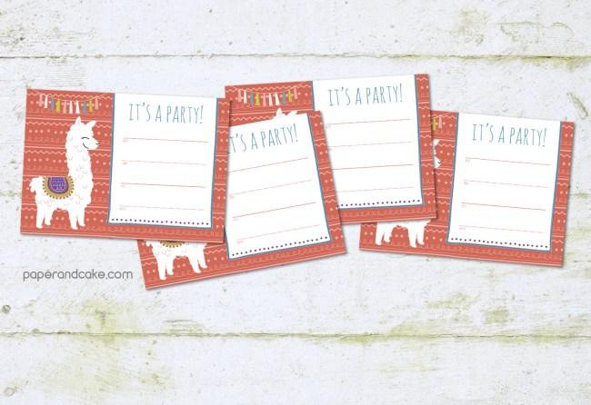 alpaca fill in party invitations