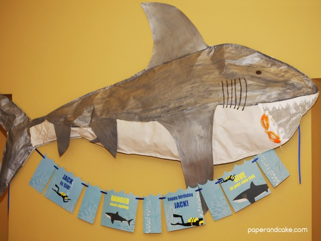 shark and SCUBA birthday party guide