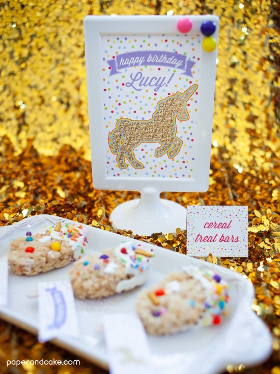 Unicorn birthday party dessert table