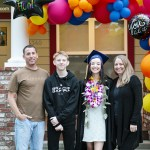 drive through graduation family photo