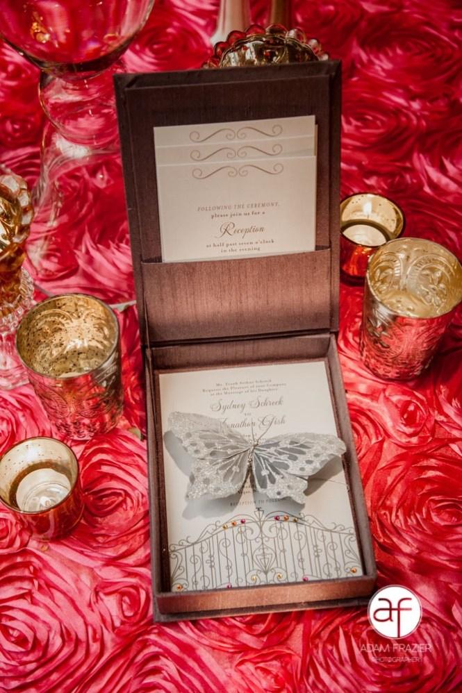 Jeweled Wedding Invitations Sydney And