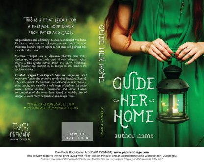 Print layout for Pre-Made Book Cover ID#0115201601 (Guide Her Home)