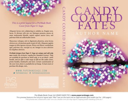 Print layout for Pre-Made Book Cover ID#0124201701 (Candy Coated Fates)