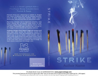 Print layout for Pre-Made Book Cover ID#0320201501 (Strike)