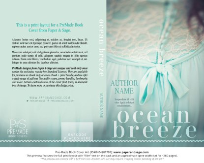 Print Layout for Pre-Made Book Cover ID#0404201701 (Ocean Breeze)