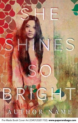 Pre-Made Book Cover ID#0120201702 (She Shines So Bright)
