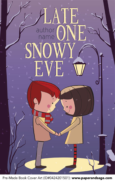 Pre-Made Book Cover ID#0424201501 (Late One Snowy Eve)