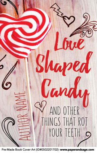 Pre-Made Book Cover ID#0502201702 (Love Shaped Candy)