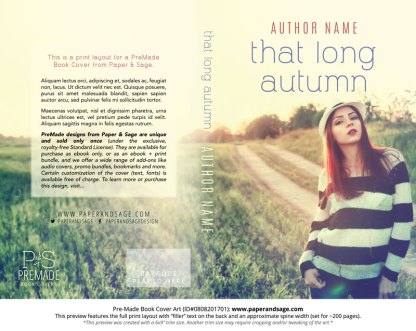 Print layout for Pre-Made Book Cover ID#0808201701 (That Long Autumn)