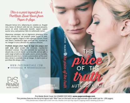 Print layout for Pre-Made Book Cover ID#0812201402 (The Price of the Truth)