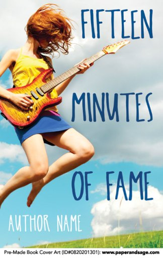 Pre-Made Book Cover ID#0820201301 (Fifteen Minutes of Fame)