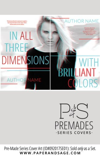 PreMade Series Covers ID#092017SE01 (In All Three Dimensions Series, Only Sold as a Set)