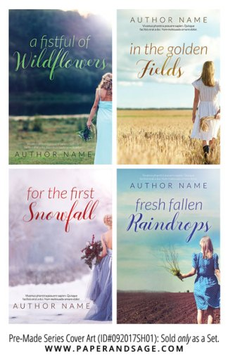 PreMade Series Covers ID#092017SH01 (Fistful of Wildflowers, Only Sold as a Set)