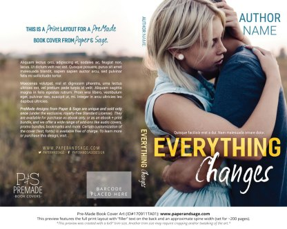 Print layout for Pre-Made Book Cover ID#170911TA01 (Everything Changes)