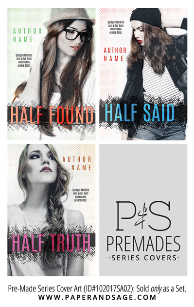PreMade Series Covers ID#102017SA02 (Half Found, Only Sold as a Set)
