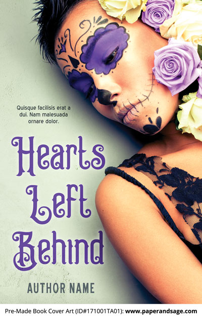 Pre-Made Book Cover ID#171001TA01 (Hearts Left Behind)