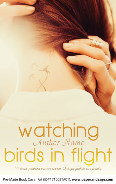 Pre-Made Book Cover ID#171005TA01 (Watching Birds in Flight)