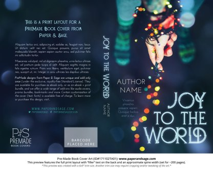 Print layout for Pre-Made Book Cover ID#171102TA01 (Joy to the World)