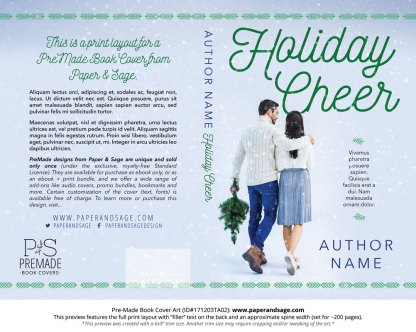Print layout for Pre-Made Book Cover ID#171203TA02 (Holiday Cheer)
