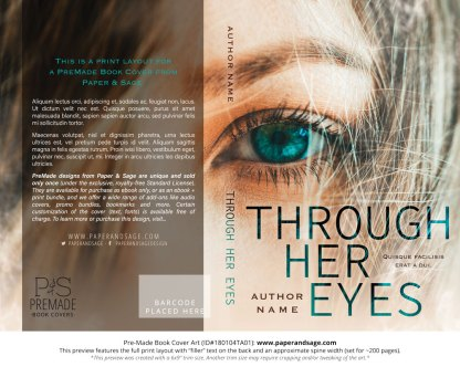 Print layout for Pre-Made Book Cover ID#180104TA01 (Through Her Eyes)