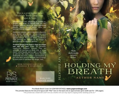 Print layout for Pre-Made Book Cover ID#180105TA02 (Holding My Breath)