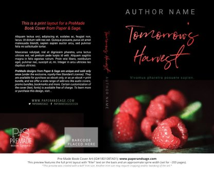 Pre-Made Book Cover ID#180108TA01 (Tomorrow's Harvest)