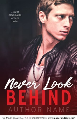 Pre-Made Book Cover ID#180109TA01 (Never Look Behind)