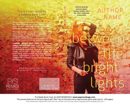 Print layout for Pre-Made Book Cover ID#180208TA01 (Between the Bright Lights)