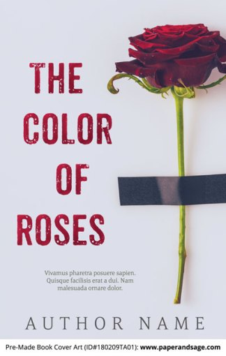 Pre-Made Book Cover ID#180209TA01 (The Color of Roses)
