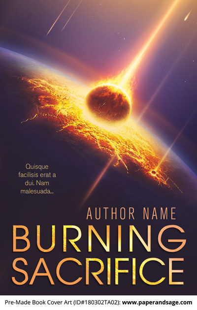Pre-Made Book Cover ID#180302TA02 (Burning Sacrifice)
