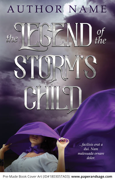 Pre-Made Book Cover ID#180305TA03 (Legend of the Storm's Child)