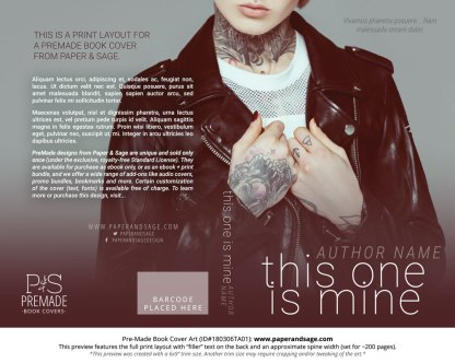 Print layout for Pre-Made Book Cover ID#180306TA01 (This One Is Mine)