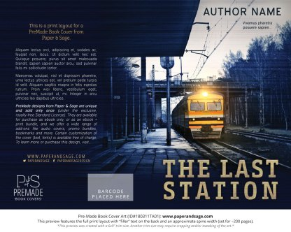 Print layout for Pre-Made Book Cover ID#180311TA01 (The Last Station)