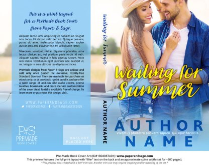 Print layout for Pre-Made Book Cover ID#180406TA01 (Waiting for Summer)