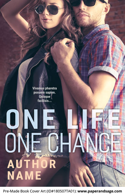 Pre-Made Book Cover ID#180507TA01 (One Life One Chance)