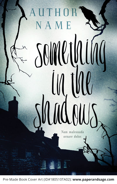 Pre-Made Book Cover ID#180510TA02 (Something in the Shadows)