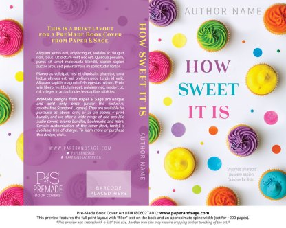 Print layout for Pre-Made Book Cover ID#180602TA01 (How Sweet It Is)