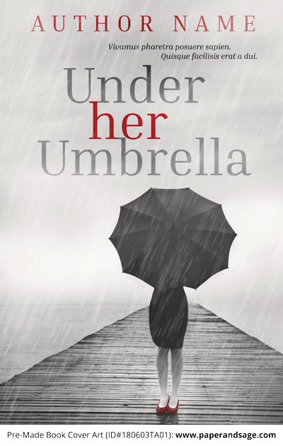 Pre-Made Book Cover ID#180603TA01 (Under Her Umbrella)