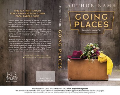 Print layout for Pre-Made Book Cover ID#180704TA01 (Going Places)