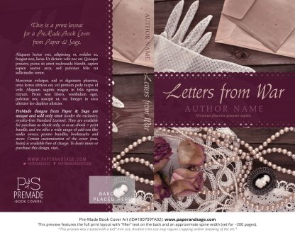 Print layout for Pre-Made Book Cover ID#180709TA02 (Letters from War)