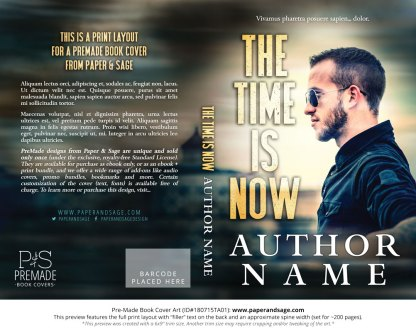 Print layout for Pre-Made Book Cover ID#180715TA01 (The Time is Now)