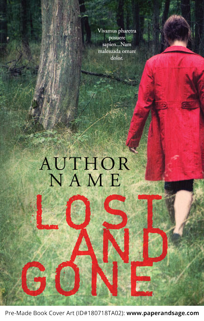 Pre-Made Book Cover ID#180718TA02 (Lost and Gone)