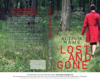 Print layout for Pre-Made Book Cover ID#180718TA02 (Lost and Gone)